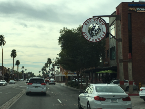 Driving through Scottsdale, AZ.