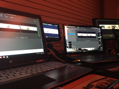 Encoding station for the webcast