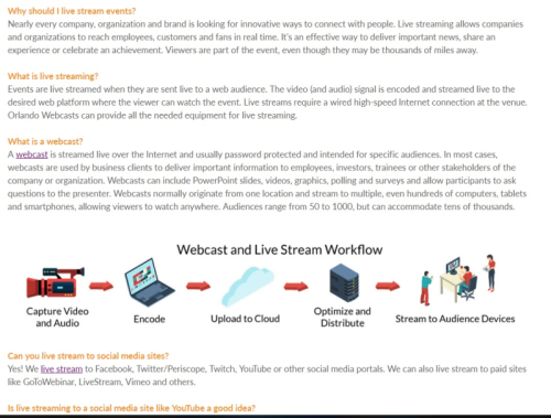 Check out the FAQ page on the Orlando Webcasts website.