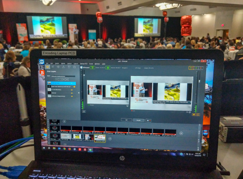 Encoder workstation at Orlando Convention