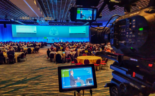 Filming a keynote presentation in Orlando